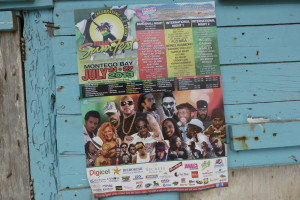 Reggae Sumfest 2013 Poster - Beaver on the Beats