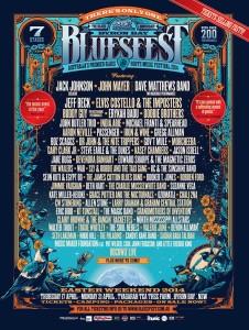 Byron Bay Bluesfest 2014 poster