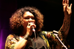 Lisa Tomlins with Myele Manzanza & The Eclectic live at WOMADelaide 2015