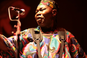 Sam Manzanza with Myele Manzanza & The Eclectic live at WOMADelaide 2015