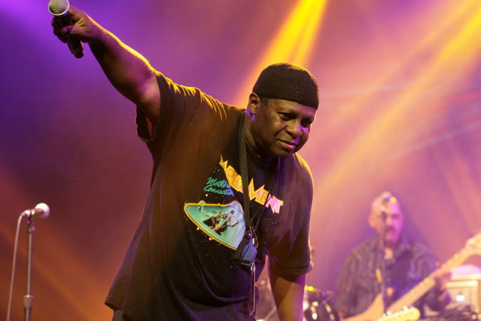 Greg Thomas - Parliament Funkadelic live concert - Byron Bay Bluesfest 2015 - Australia
