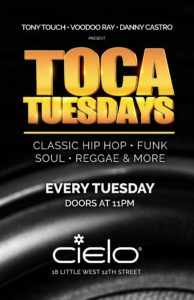 Toca Tuesdays at Cielo - New York City